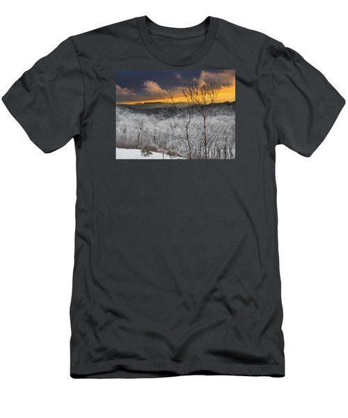 Men's T-Shirt (Athletic Fit) featuring the photograph Frosty Sunset by Ken Barrett