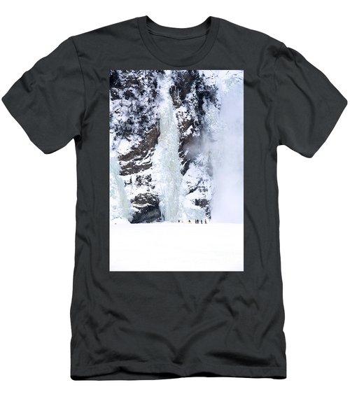 Frozen Montmorency Falls  Men's T-Shirt (Athletic Fit)
