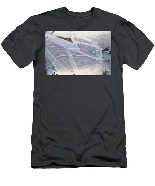 Frozen Water On Ground Men's T-Shirt (Slim Fit) by Amelia Racca