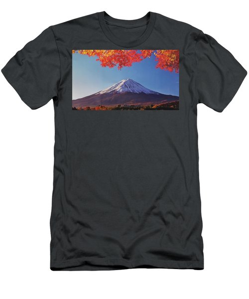 Fuji Shine In Autumn Leaves Men's T-Shirt (Athletic Fit)