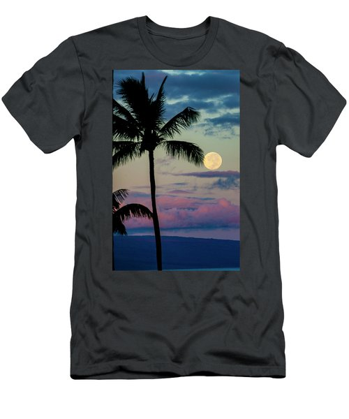 Full Moon And Palm Trees Men's T-Shirt (Athletic Fit)