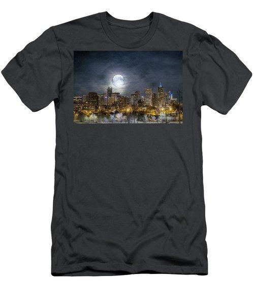 Full Moon Over Denver Men's T-Shirt (Athletic Fit)