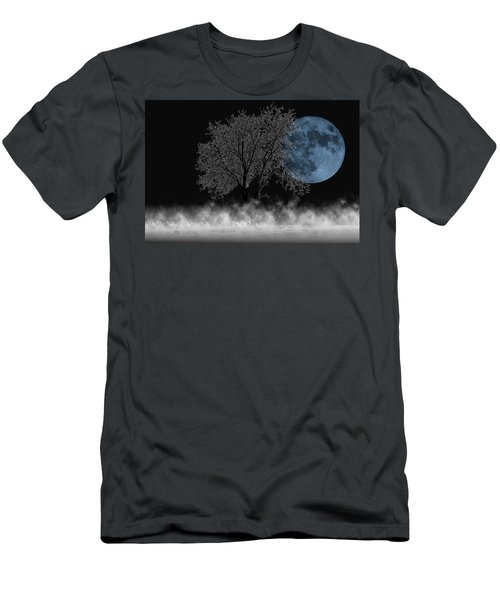 Full Moon Over Iced Tree Men's T-Shirt (Athletic Fit)