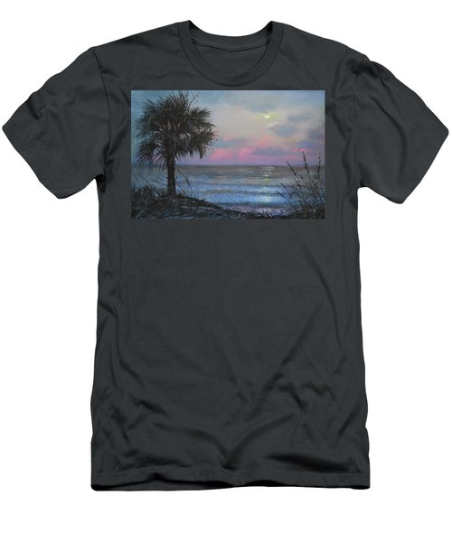 Full Moon Rising Men's T-Shirt (Slim Fit) by Blue Sky