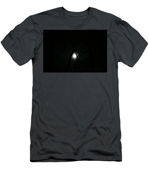 Men's T-Shirt (Athletic Fit) featuring the photograph Full Moon Through Trees by Marilyn Hunt