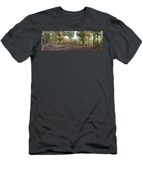Full Panoramic View From The Summit Of Brown's Mountain Trail Men's T-Shirt (Athletic Fit)