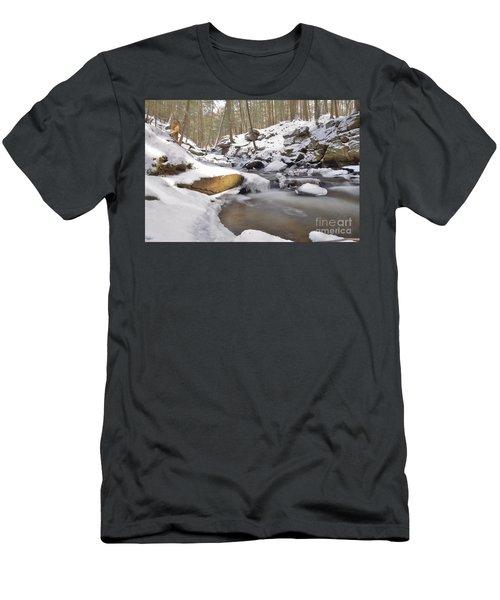 Full Scene  Winter Pool Men's T-Shirt (Athletic Fit)