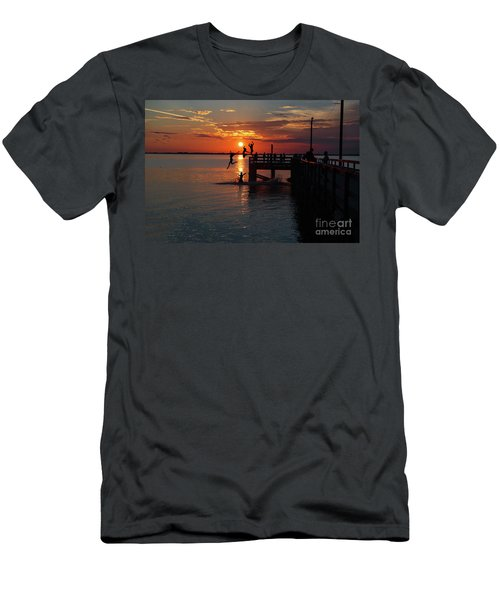 Fun On The Wharf Men's T-Shirt (Slim Fit) by Jim  Hatch