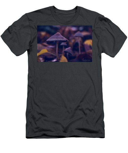 Men's T-Shirt (Athletic Fit) featuring the photograph Fungi World by Gene Garnace