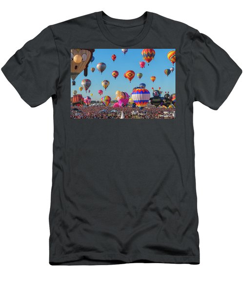Men's T-Shirt (Athletic Fit) featuring the photograph Funky Balloons by Tom Singleton