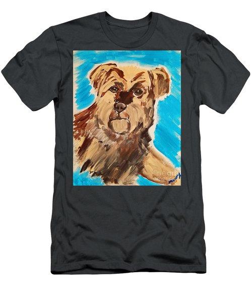 Fuzzy Boy Men's T-Shirt (Slim Fit) by Ania M Milo