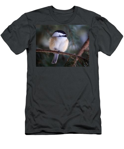 Fuzzy Chickadee Men's T-Shirt (Athletic Fit)