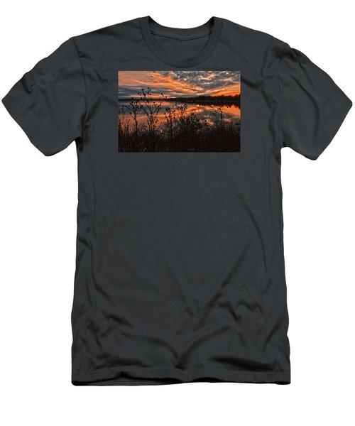 Men's T-Shirt (Slim Fit) featuring the photograph Gainesville Sunset 2386w by Ricardo J Ruiz de Porras