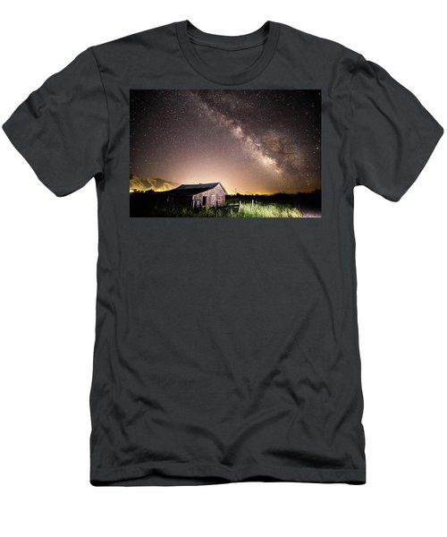 Galaxy In Star Valley Men's T-Shirt (Athletic Fit)