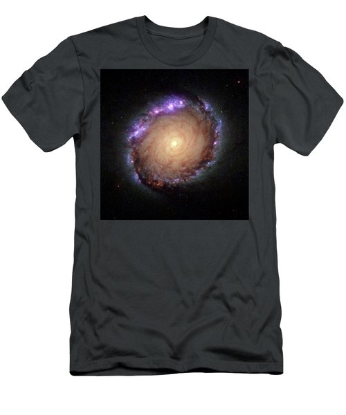 Galaxy Ngc 1512 Men's T-Shirt (Slim Fit) by Hubble Space Telescope