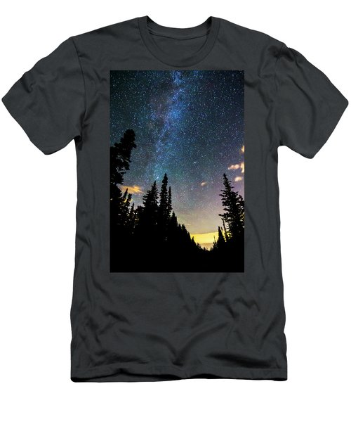Men's T-Shirt (Slim Fit) featuring the photograph  Galaxy Rising by James BO Insogna