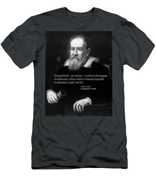 Galileo On Mathematics Bw Men's T-Shirt (Athletic Fit)