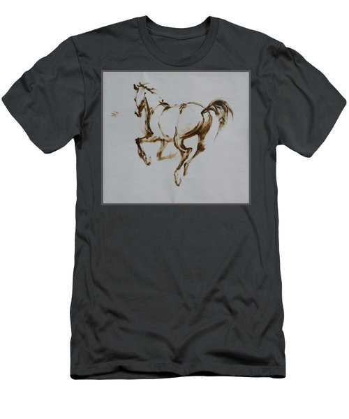 Galloping Horse Men's T-Shirt (Athletic Fit)
