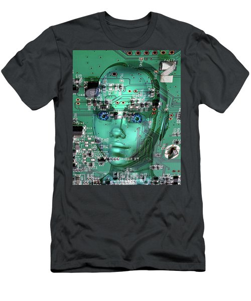 Men's T-Shirt (Athletic Fit) featuring the digital art Gamer by Anthony Murphy