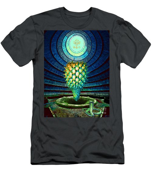 Men's T-Shirt (Slim Fit) featuring the painting Ganesha Blessing His Fruit by Mojo Mendiola