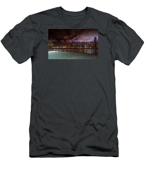 Men's T-Shirt (Slim Fit) featuring the photograph Gantry Park by Rafael Quirindongo