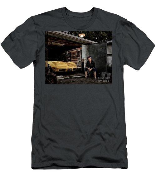 Garage Portrait Men's T-Shirt (Slim Fit) by Brad Allen Fine Art