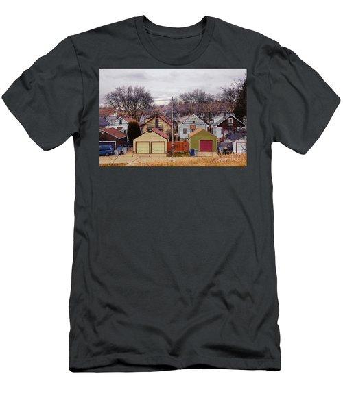 Garages Men's T-Shirt (Slim Fit) by David Blank
