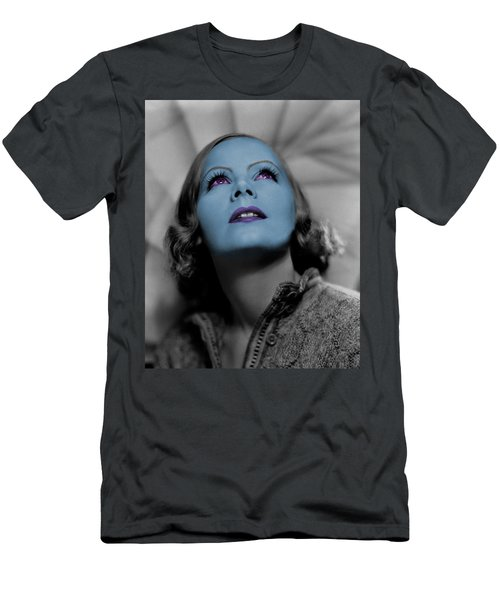 Garbo In Blue Men's T-Shirt (Athletic Fit)