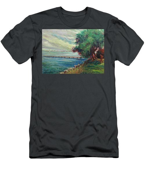 Garda Lake -lago Garda Men's T-Shirt (Athletic Fit)