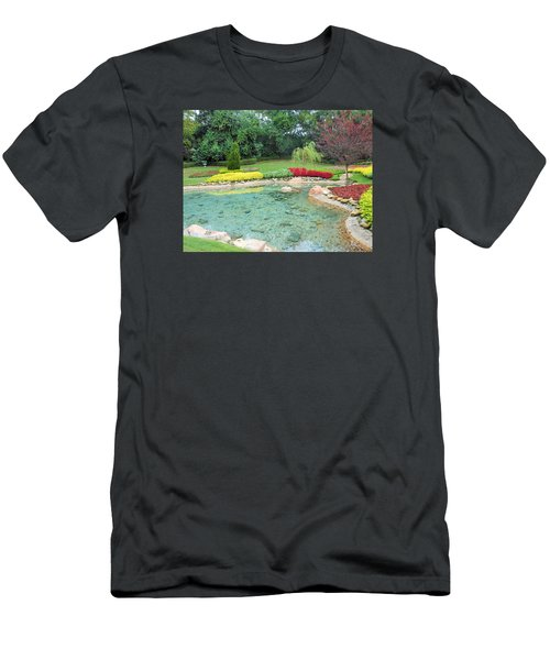 Garden At Epcot Men's T-Shirt (Slim Fit) by Kay Gilley
