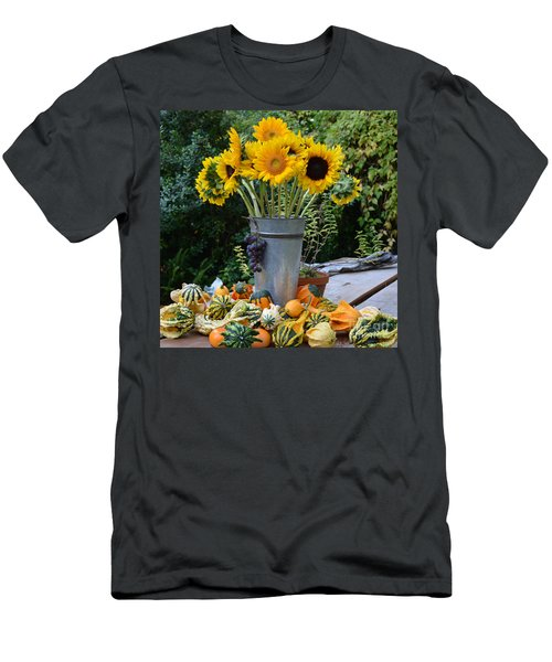 Garden Bounty In Yellow And Green Men's T-Shirt (Athletic Fit)
