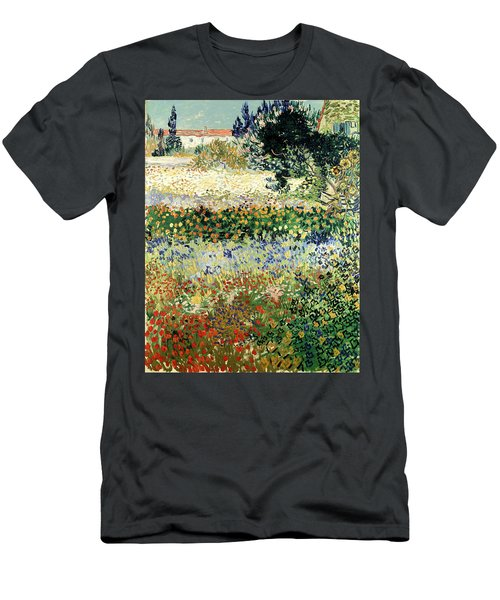 Men's T-Shirt (Athletic Fit) featuring the painting Garden In Bloom by Van Gogh