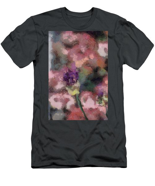 Men's T-Shirt (Slim Fit) featuring the mixed media Garden Of Love by Trish Tritz