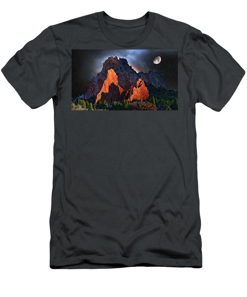 Garden Of The Gods Fantasy Art Men's T-Shirt (Slim Fit) by John Hoffman
