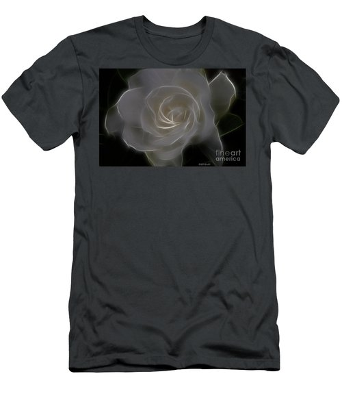 Gardenia Blossom Men's T-Shirt (Slim Fit) by Deborah Benoit