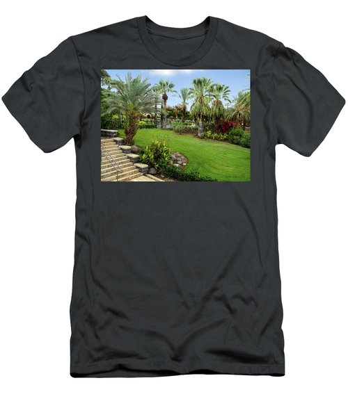 Gardens At Mount Of Beatitudes Israel Men's T-Shirt (Athletic Fit)