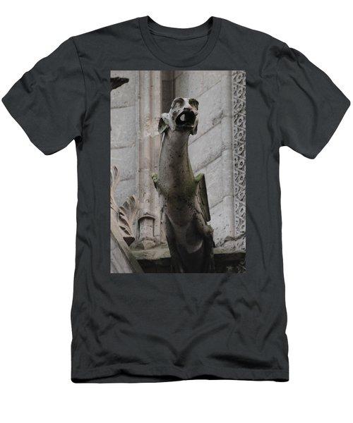 Gargoyle Notre Dame Men's T-Shirt (Slim Fit) by Christopher Kirby
