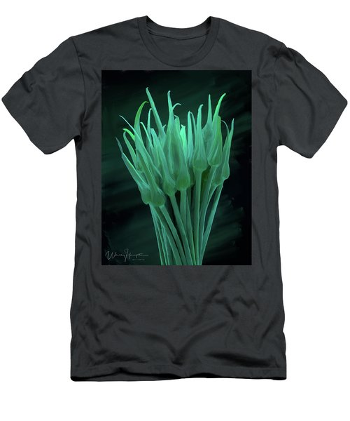 Garlic Scapes 01 Men's T-Shirt (Slim Fit) by Wally Hampton