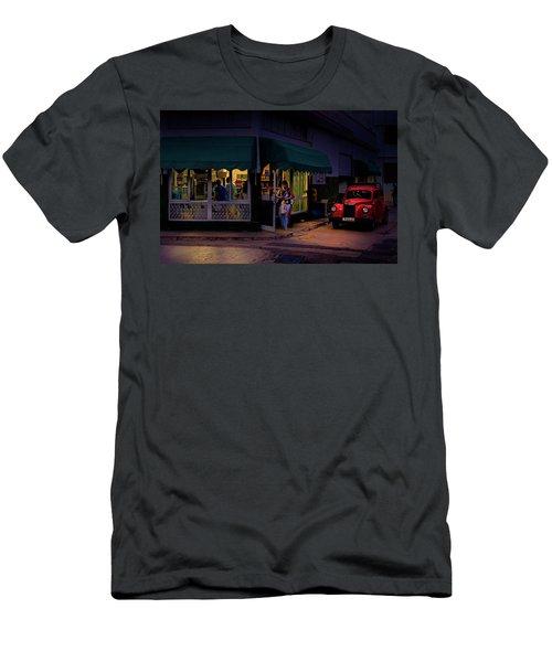 Gasolinera Linea Y Calle E Havana Cuba Men's T-Shirt (Slim Fit) by Charles Harden