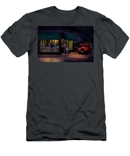 Men's T-Shirt (Athletic Fit) featuring the photograph Gasolinera Linea Y Calle E Havana Cuba by Charles Harden