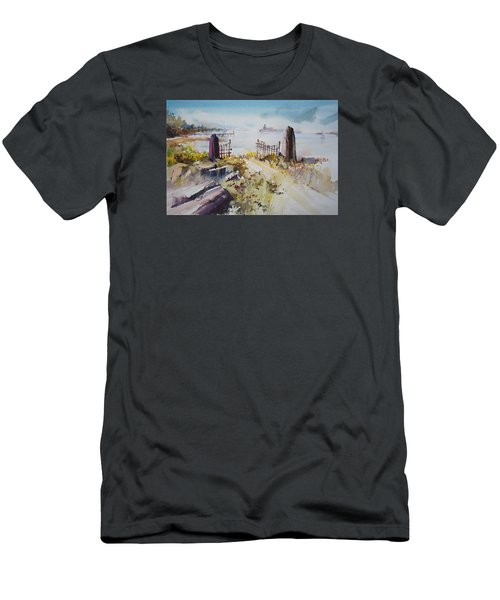 Gated Shore Men's T-Shirt (Slim Fit) by P Anthony Visco