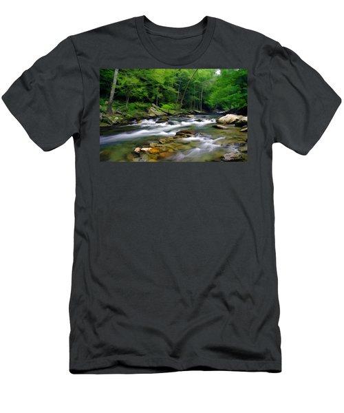 Gatlinburg Stream Men's T-Shirt (Athletic Fit)