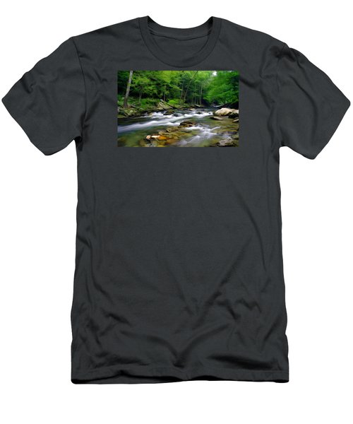 Gatlinburg Stream Men's T-Shirt (Athletic Fit)