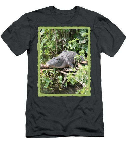 Gator In Green Men's T-Shirt (Slim Fit) by Carol Groenen