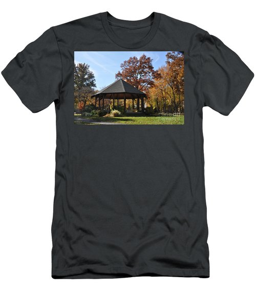 Gazebo At North Ridgeville - Autumn Men's T-Shirt (Athletic Fit)