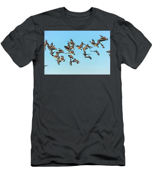 Geese In Flight Men's T-Shirt (Athletic Fit)