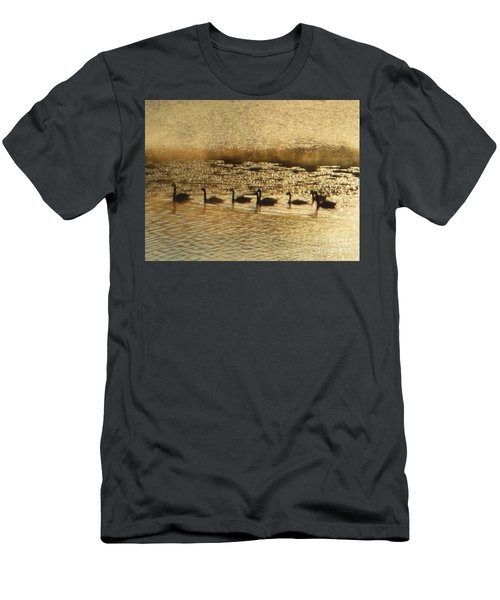 Geese On Golden Pond Men's T-Shirt (Athletic Fit)