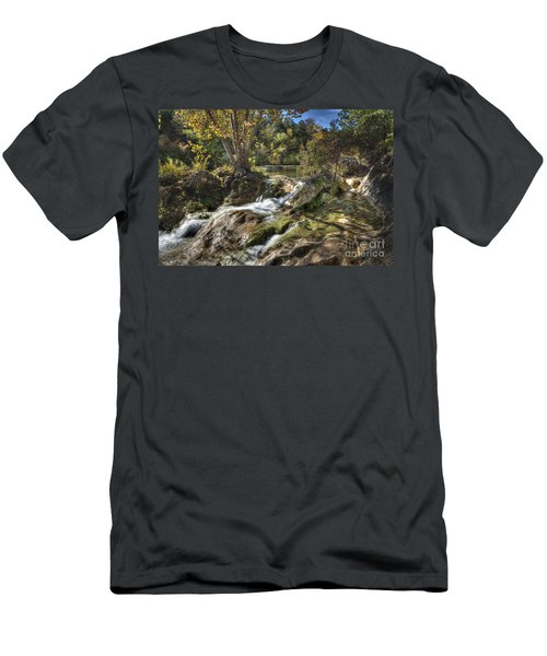Men's T-Shirt (Slim Fit) featuring the photograph Gentle Mountain Stream by Tamyra Ayles