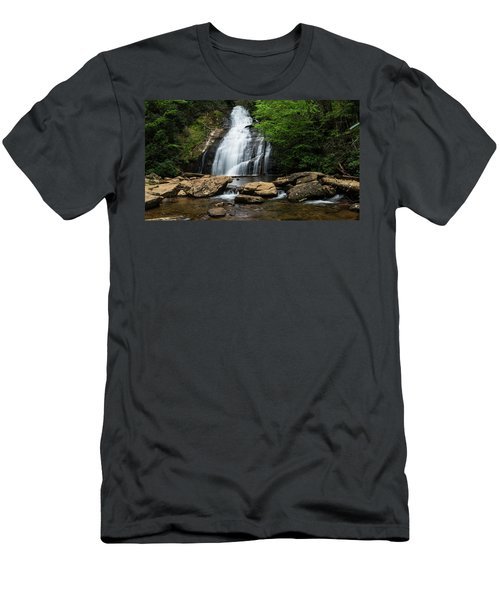Gentle Waterfall North Georgia Mountains Men's T-Shirt (Athletic Fit)