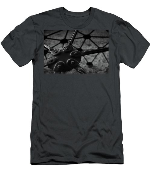 Men's T-Shirt (Slim Fit) featuring the photograph Geodome Climber 2 by Richard Rizzo